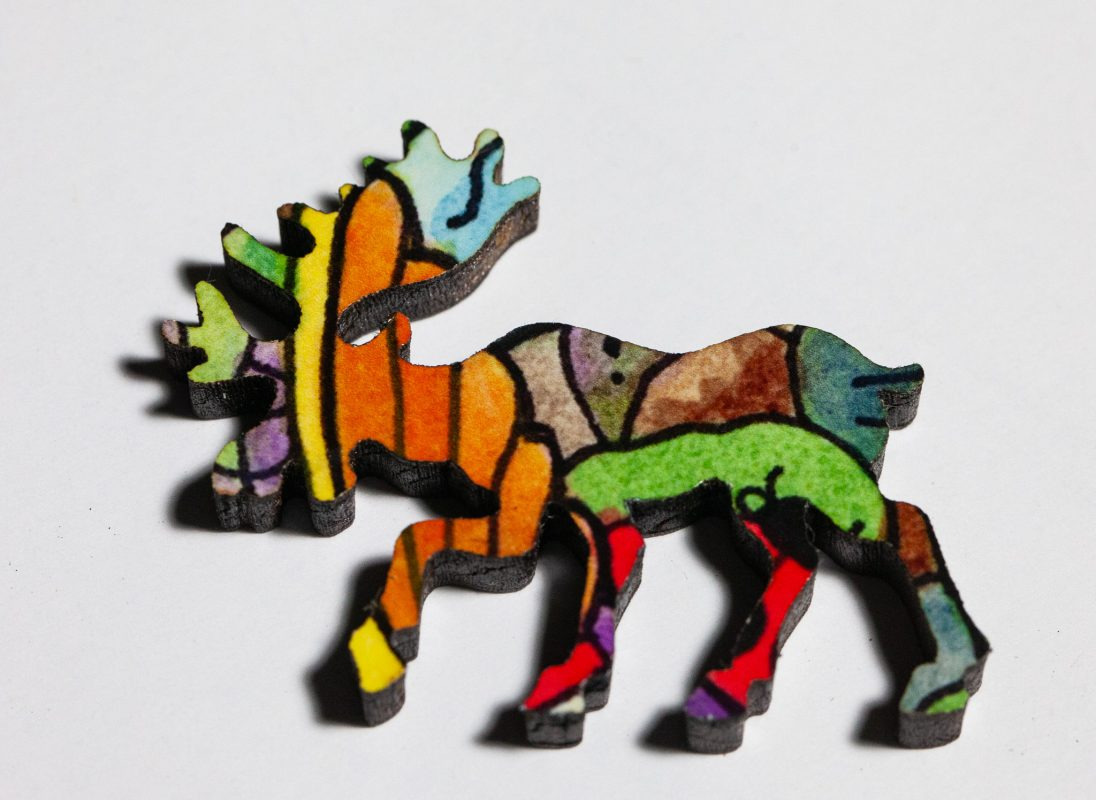 Bison Puzzle Whimsy -- Moose