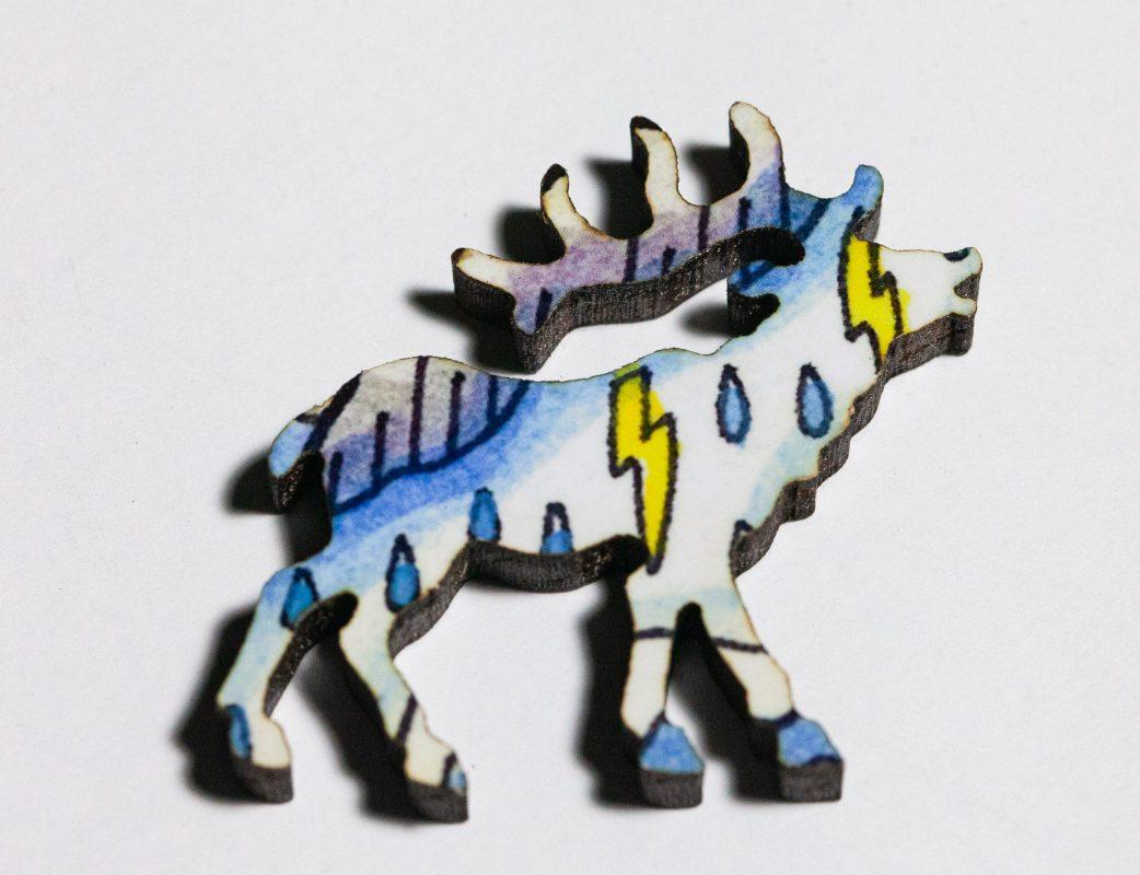 Bison Puzzle Whimsy -- Elk