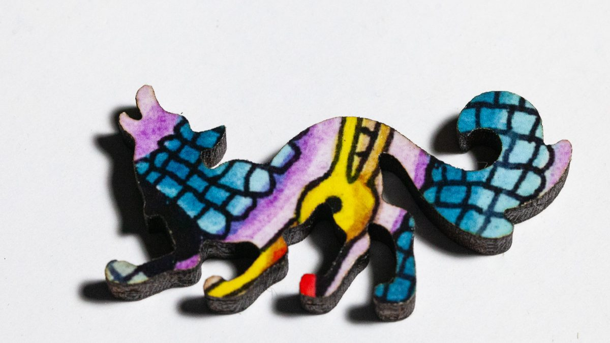 Bison Puzzle Whimsy -- Coyote