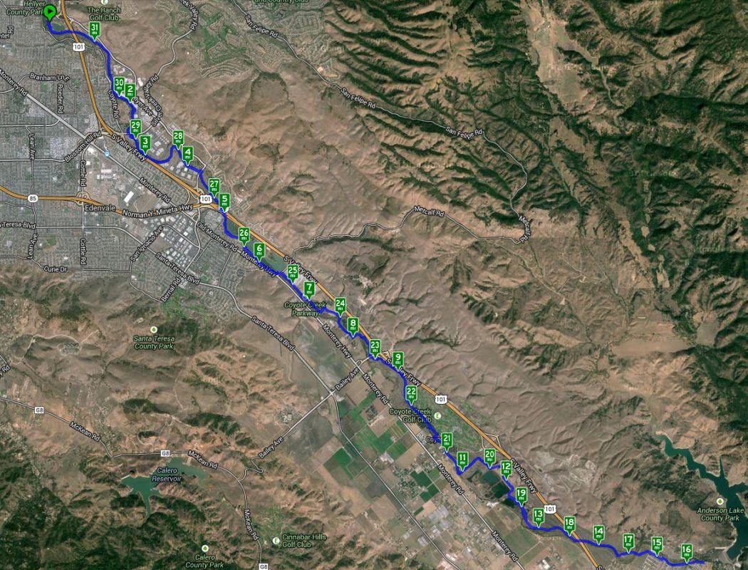 Ride Map 31 Miles/50 Kilometers