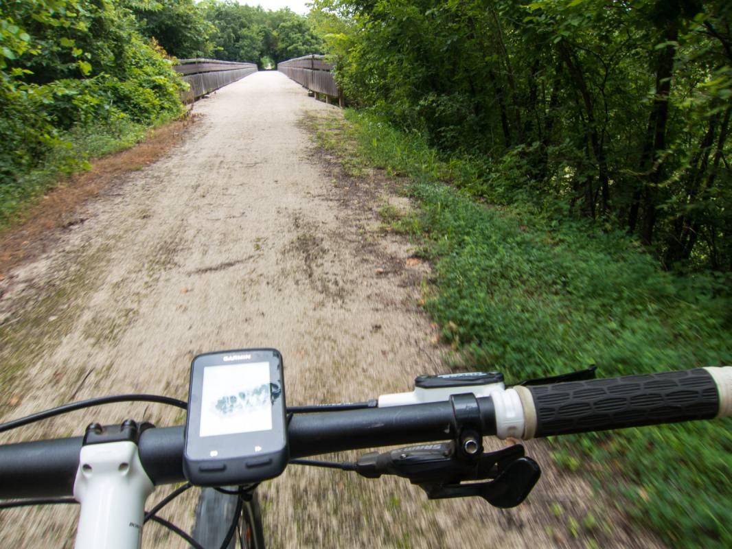 Prairie Spirit Trail, View from a Bike