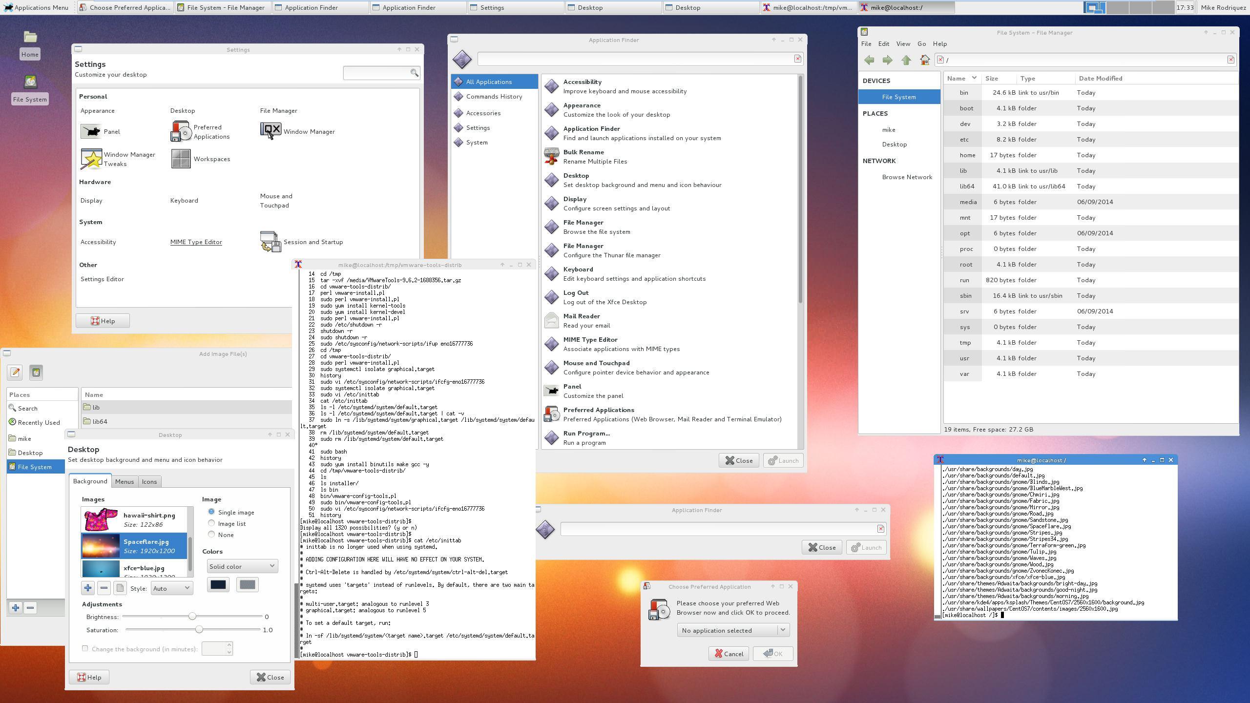 CentOS 7 Xfce Desktop