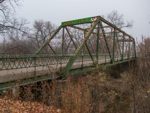 Foggy Smoky Hill River Bridge