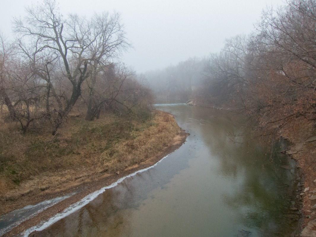 Foggy Smoky Hill River