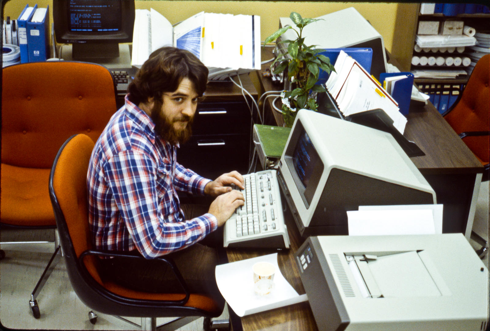 Mike at work
