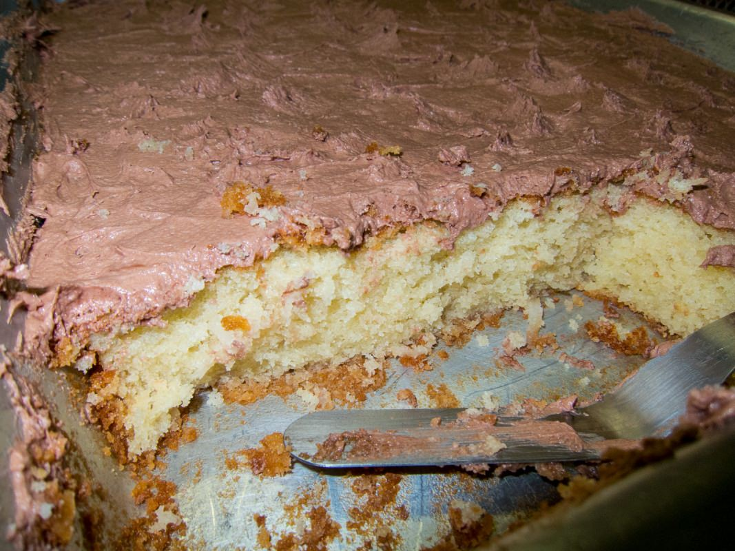 Coconut Cake with Chocolate Frosting