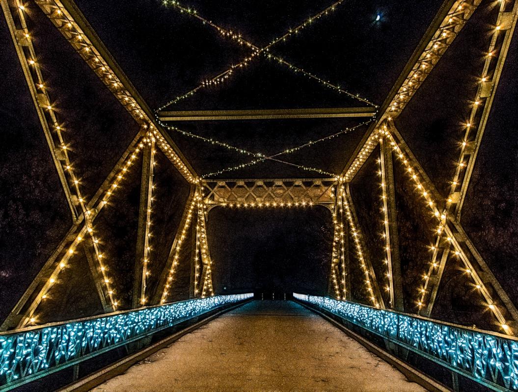 Holiday Lights on the Smoky Hill River Bridge