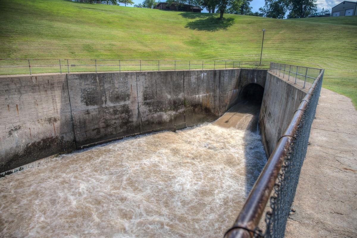 Kanopolis Drive Dam Spillway