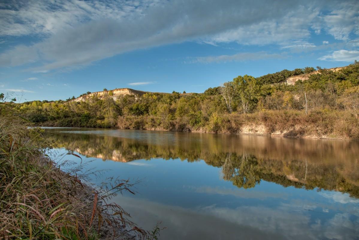 Cliffs along the Smoky Hill River