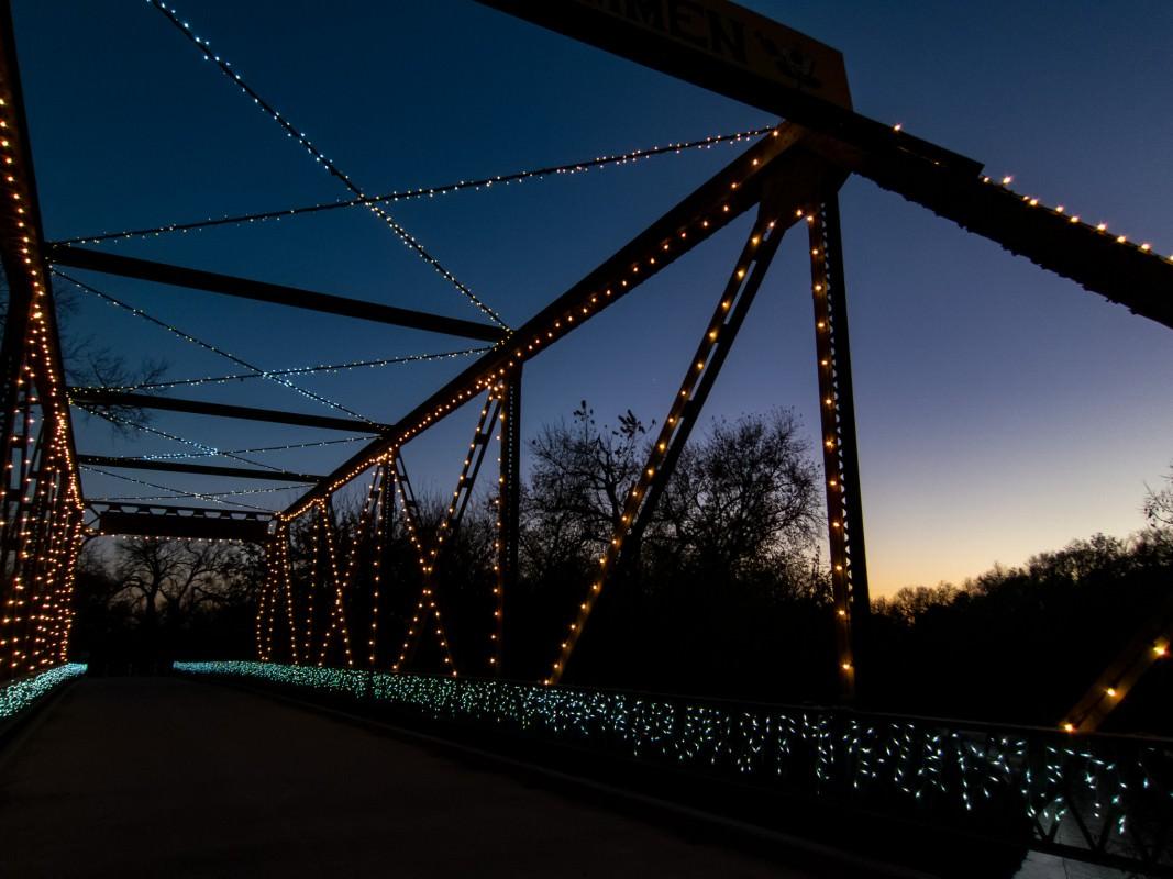 Smoky Hill River Bridge at Sunset