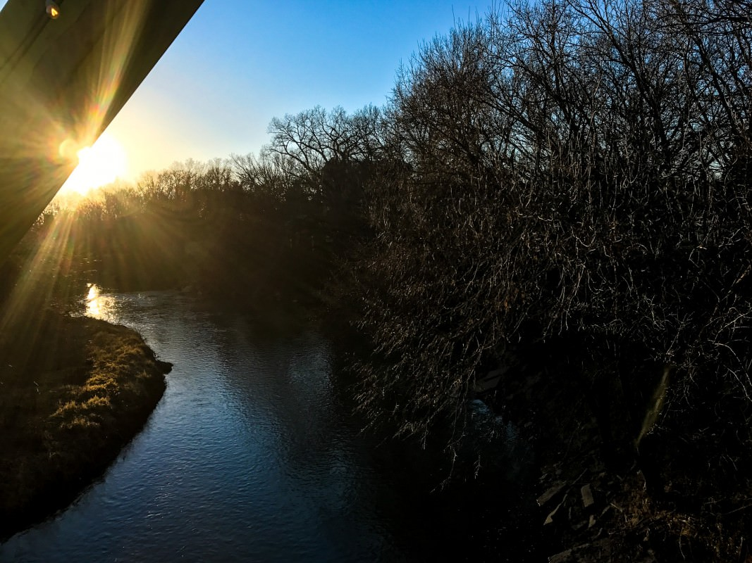Smoky Hill River Sunset