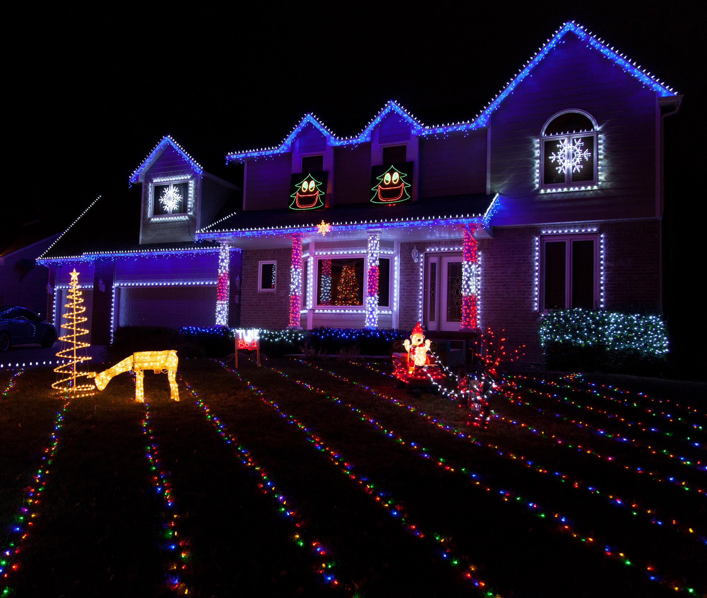 Colorful Christmas Lights On House.Colorful Christmas Lights On Candy Cane Lane All The Pages