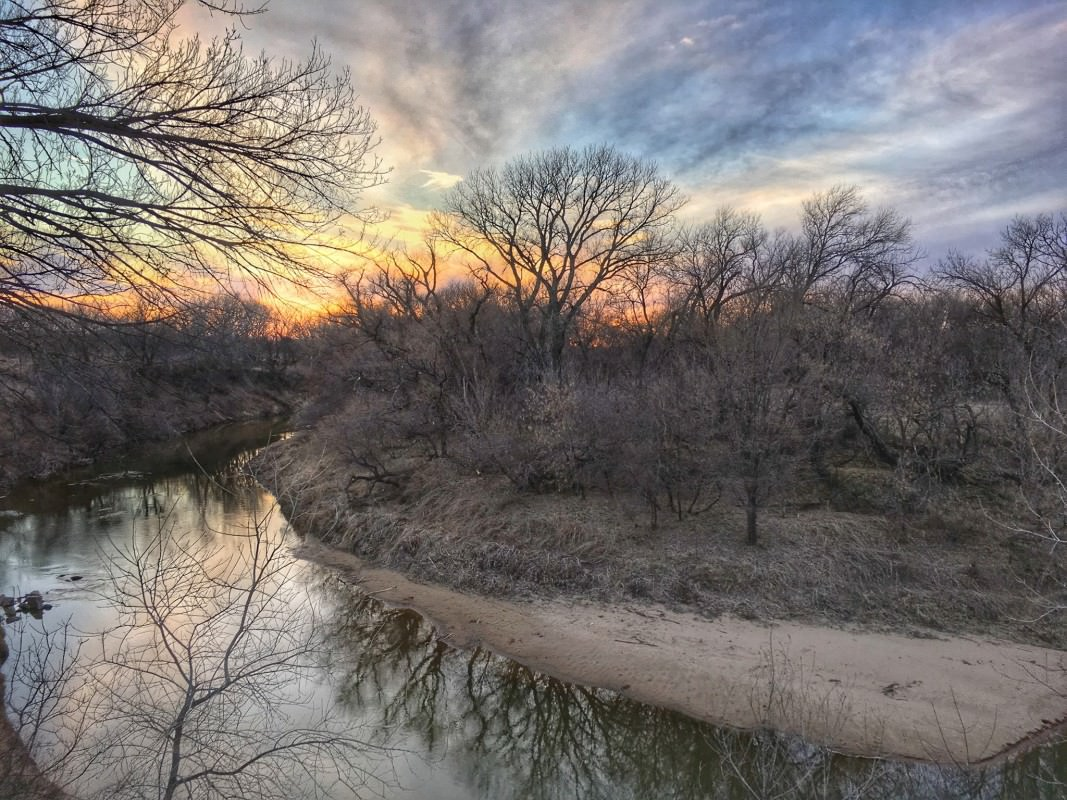 Smoky Hill River at sunset