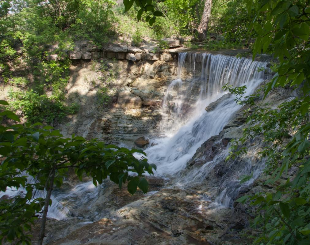 Side View of Middle Falls