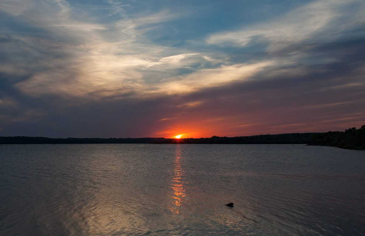 Clinton Lake Sunset