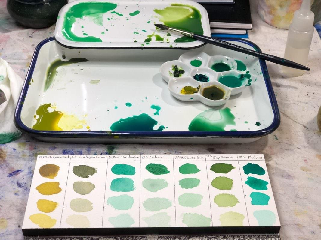 Green watercolor swatch