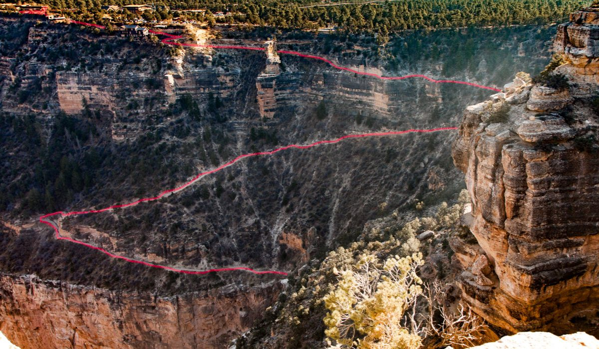 Grand Canyon Hike: View from Above
