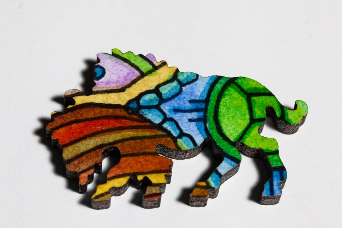 Bison Puzzle Whimsy -- Bison
