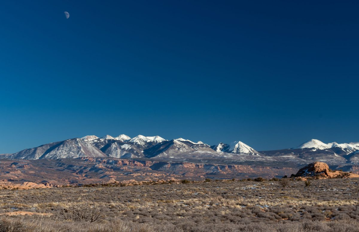 La Sal Mts under the Moon