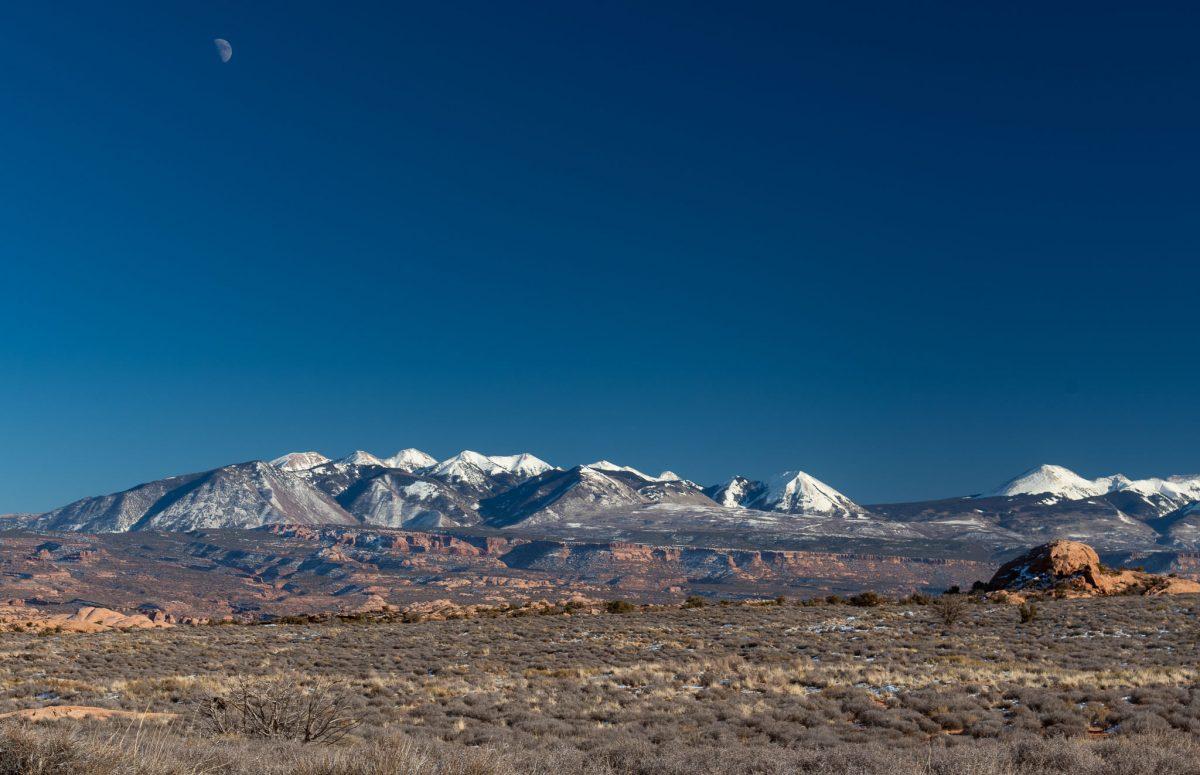 La Sal Mts under the Moon