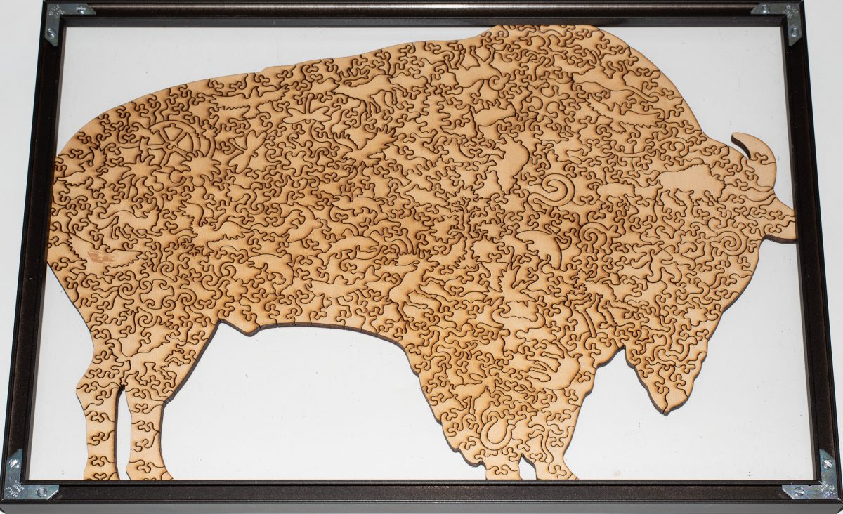 Bison Puzzle: Framed! (rear view)
