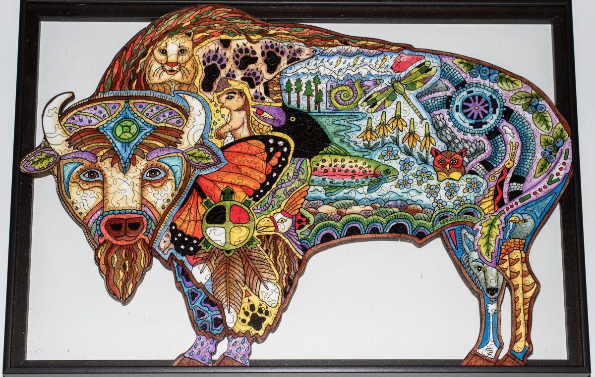 Bison Puzzle: Framed!
