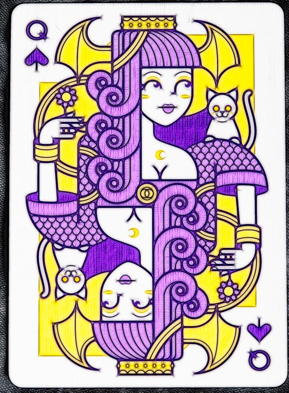 Lunatica Solstice: Queen of Spades (fractalized)