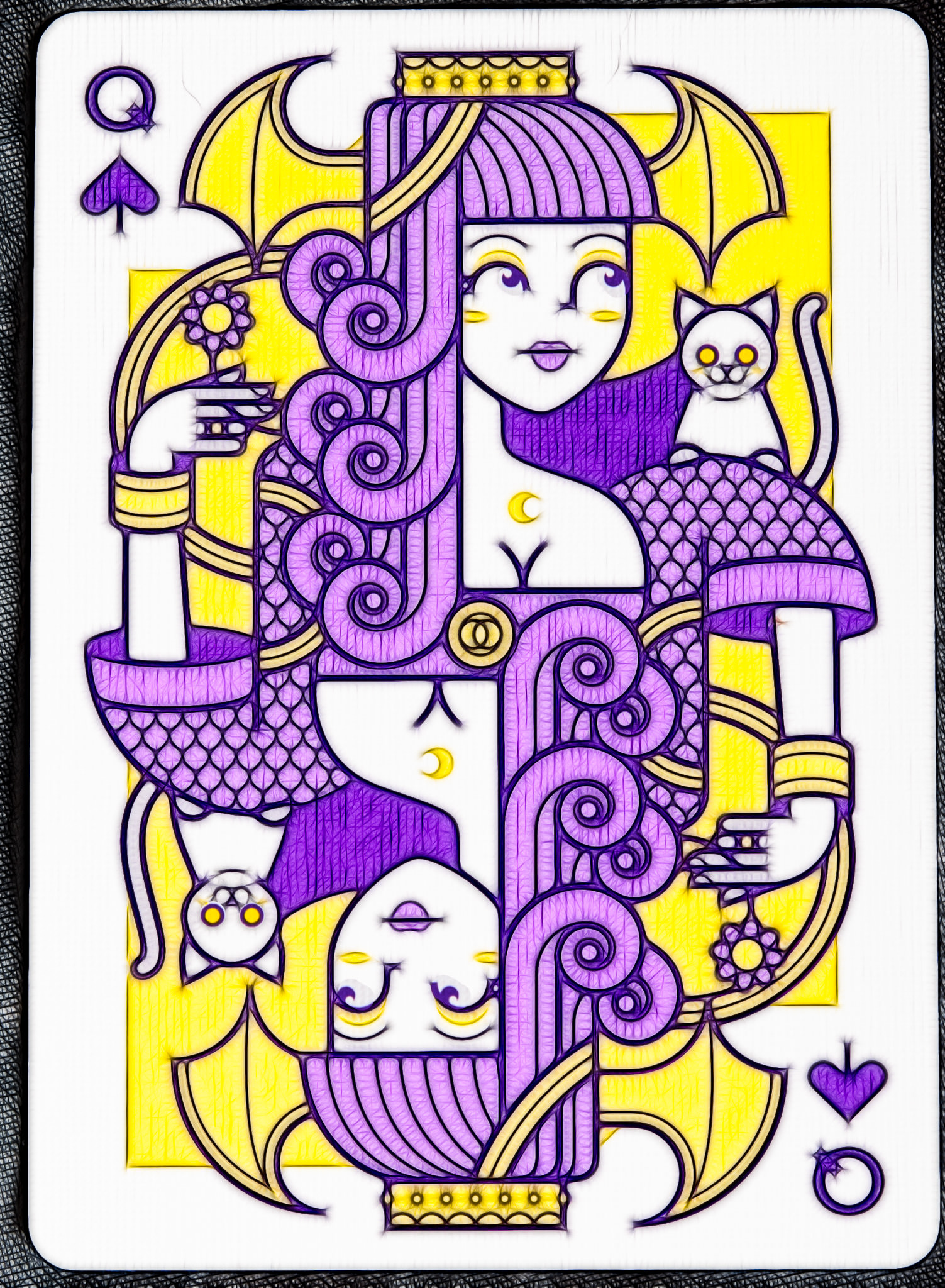 Lunatica Solstice: Queen of Spades (fractalized)