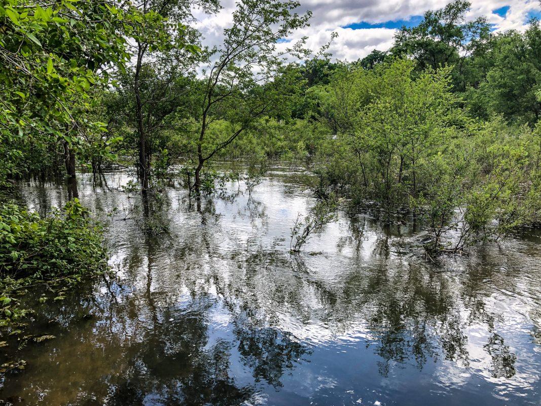 Kanopolis Spillway after heavy rains