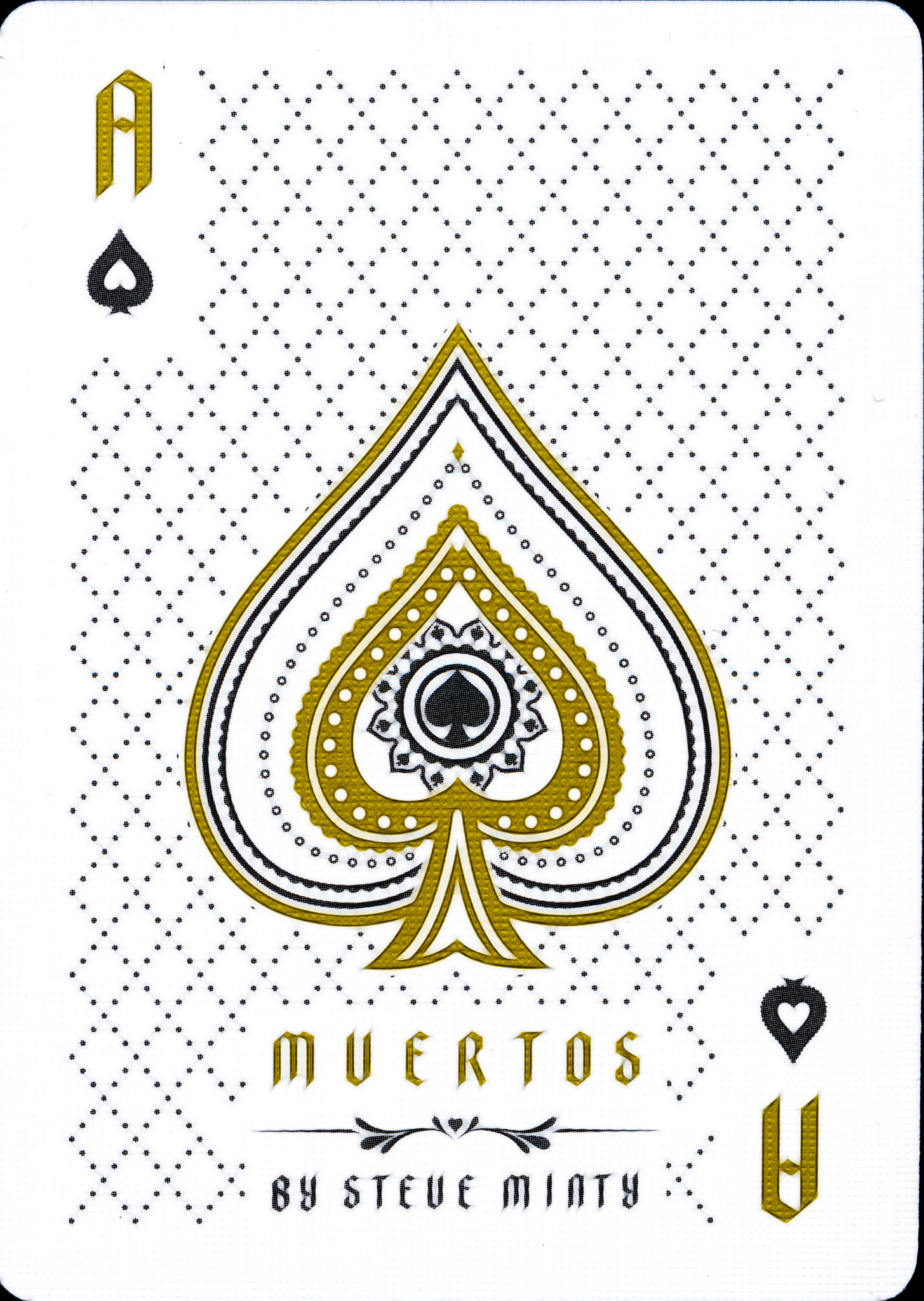 Muertos Mourning Gold - Fractalized Ace of Spades