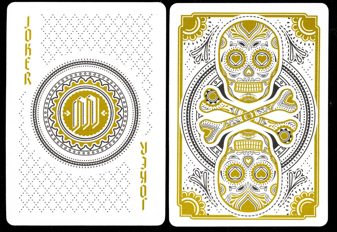 Muertos Mourning Gold - Joker & Back of Card