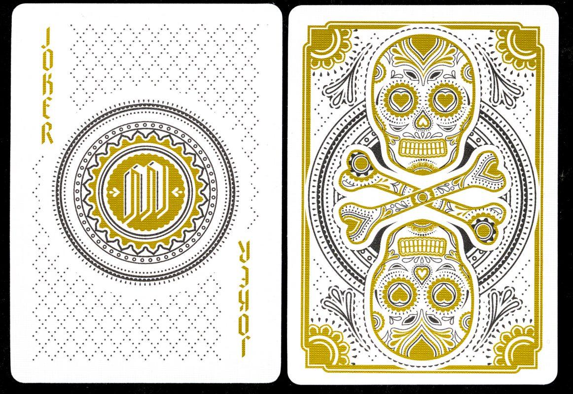 Muertos Mourning Gold - Joker & Back of Card
