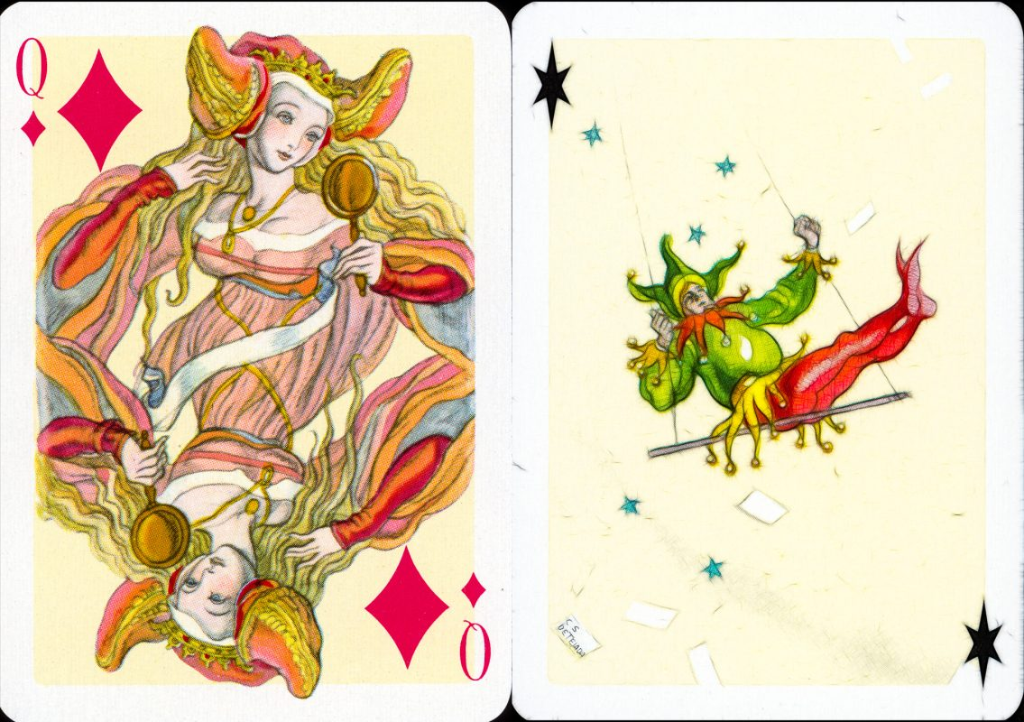 Tejada cards, queen and joker