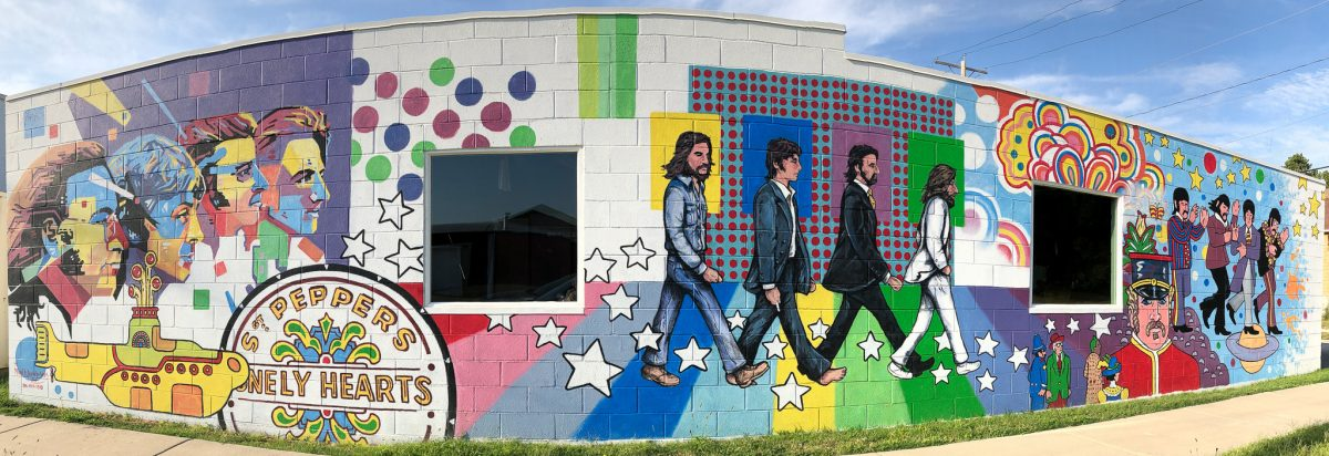 the Beatles Mural, Newton KS