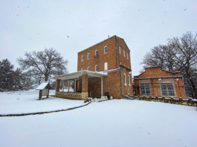 Lindsborg's Old Mill in the Snow