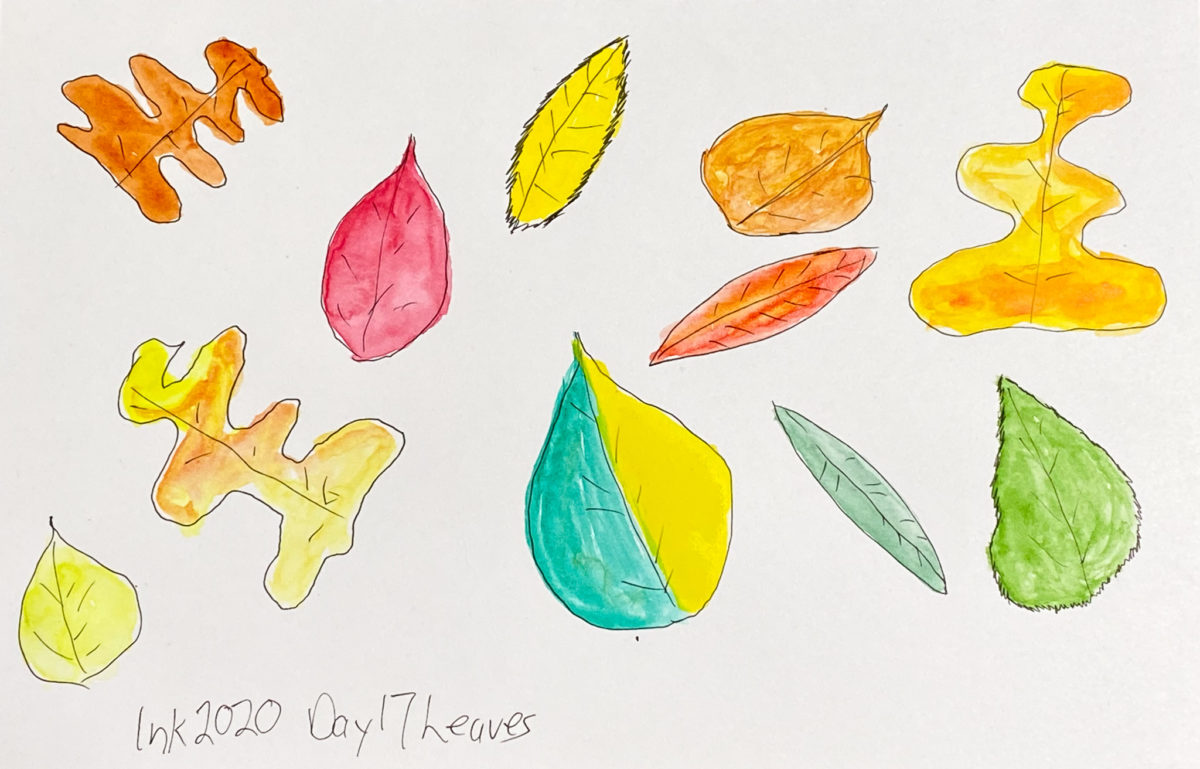 Inktober Day 17 - Leaves