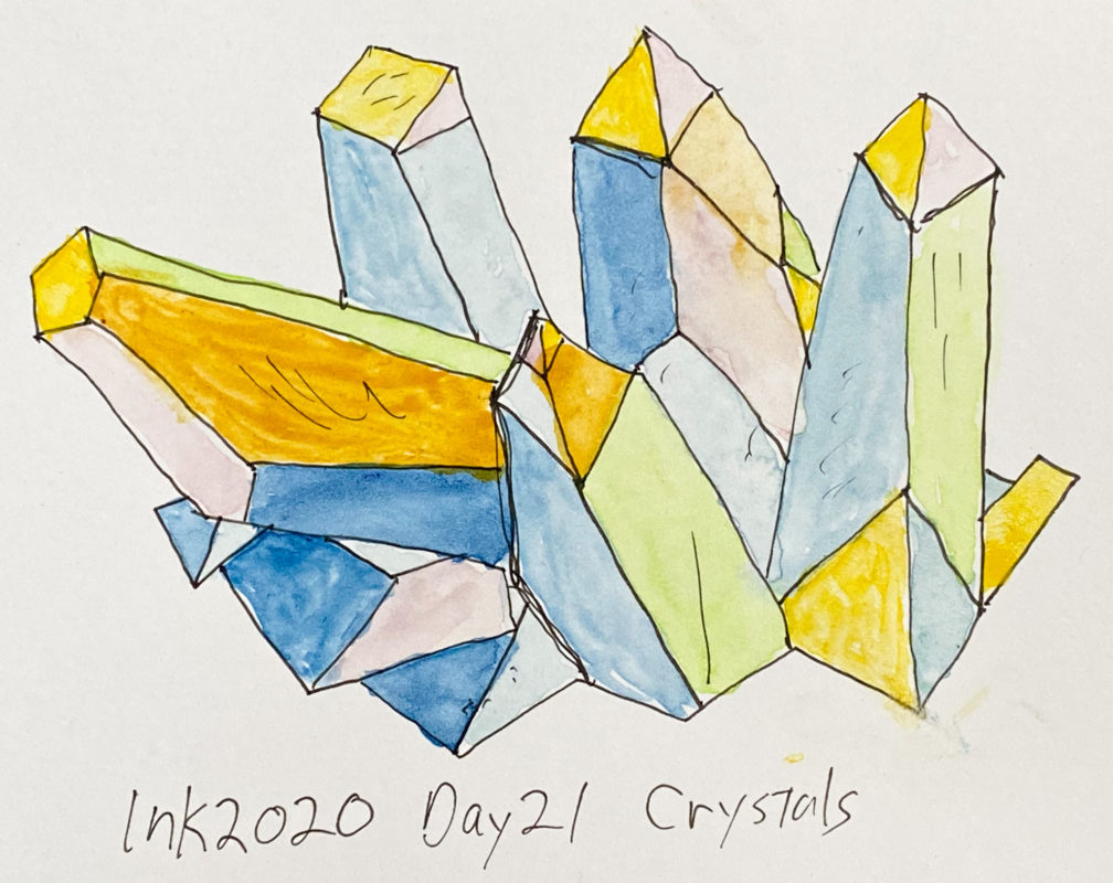 Inktober Day 21 - Crystals