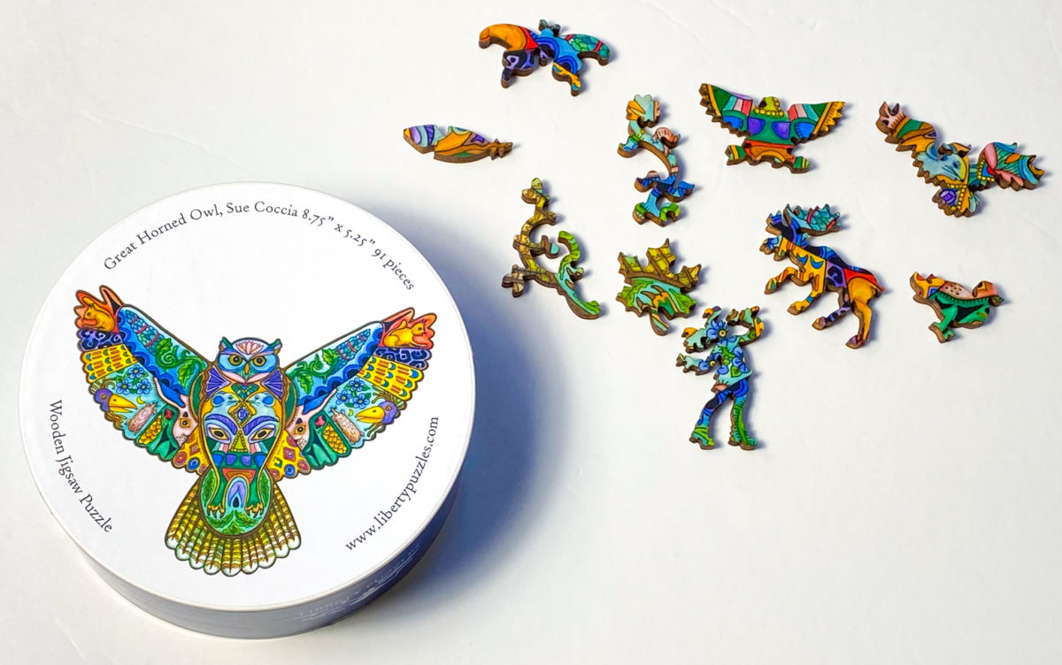 Liberty Puzzle - Horned Owl - Overview