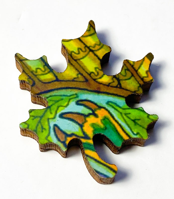 Liberty Puzzle - Horned Owl - Whimsy - Leaf