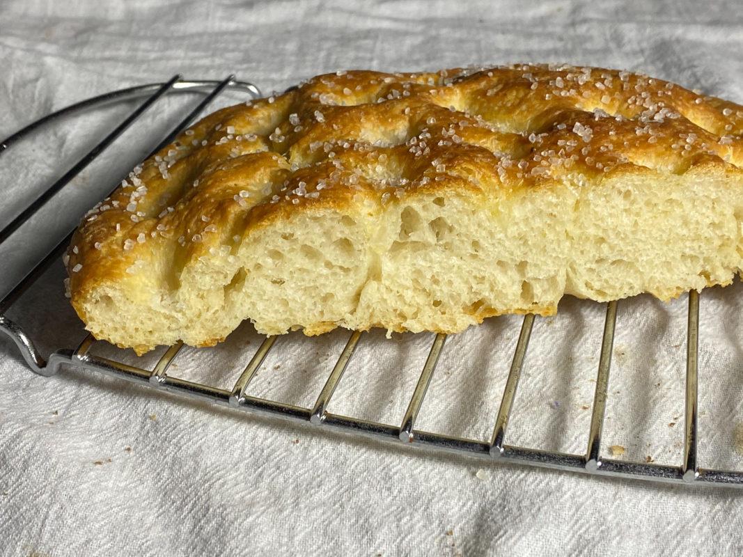 Focaccia bread - good crumb!