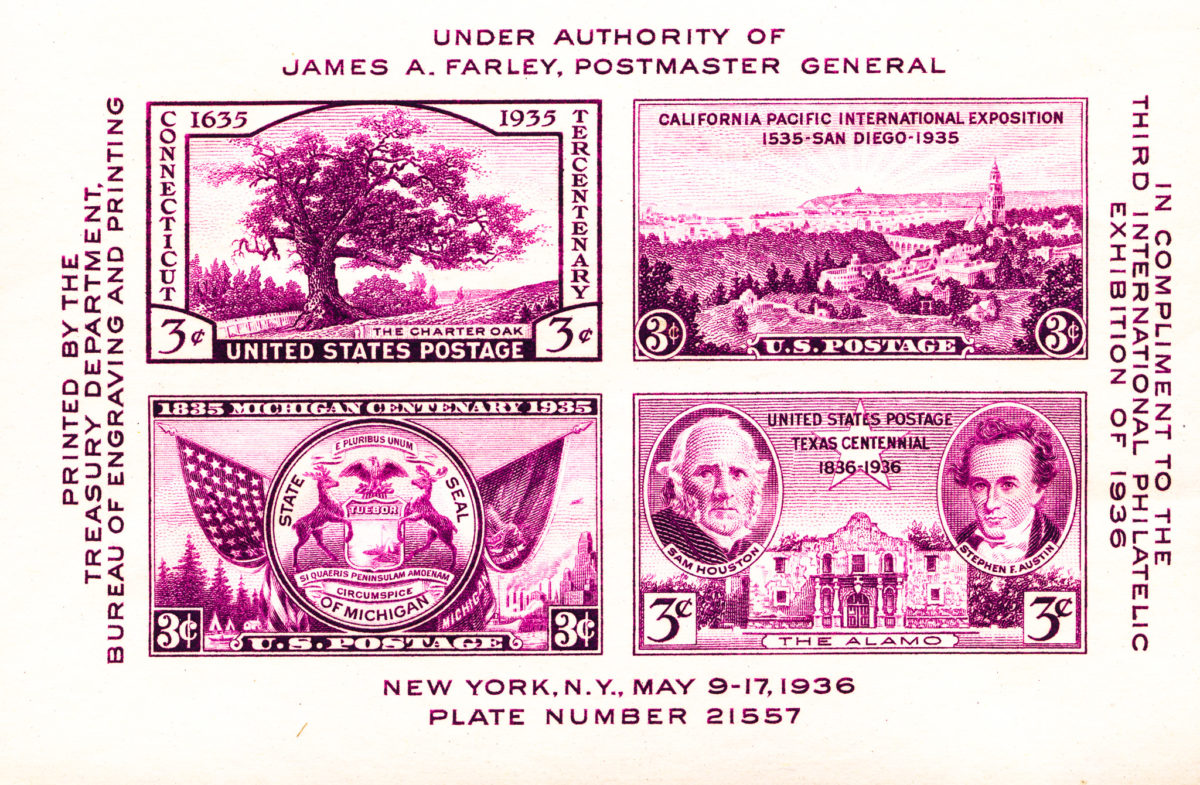 Farley - 3rd International Philatelic Exhiibition - 1936
