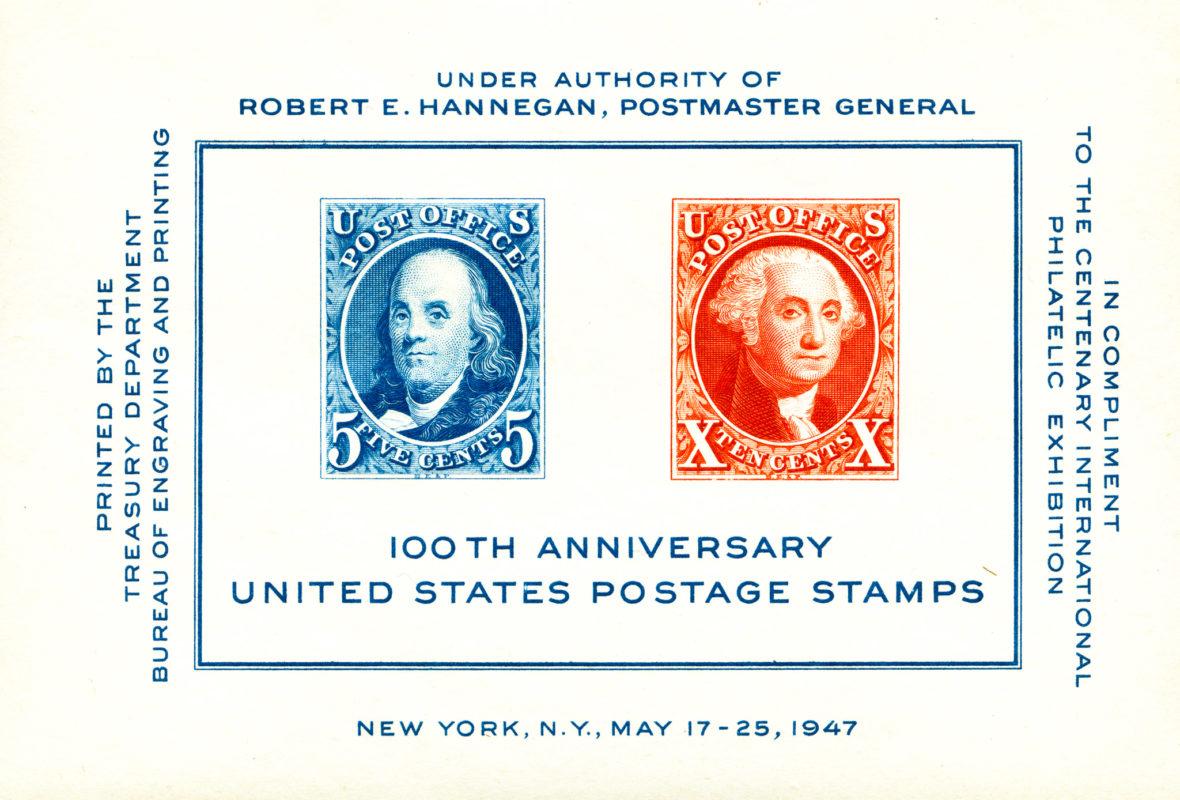 US 100th Postal Anniversary - 1947
